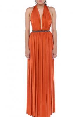 Orange Goddess Rima Elbise