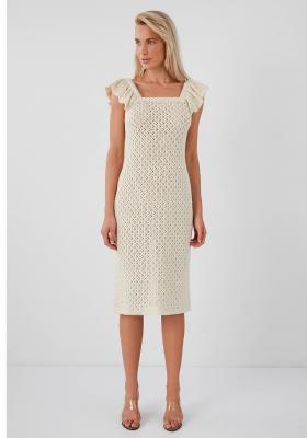 Lea Crochet Elbise