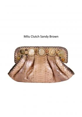 milu clutch sandy brown