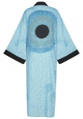 Blue Irıs Kimono